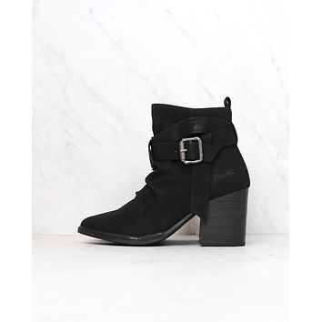 blowfish - pauline rock pebbled boot - black