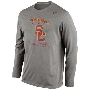 USC Trojans Nike Legend Practice Long Sleeve Performance T-Shirt - Dark Gray