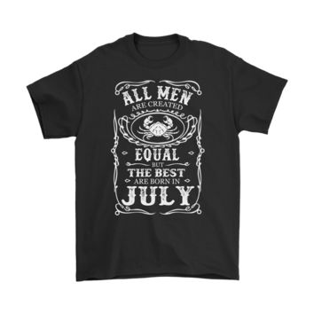 KUYOU All Men But Only The Best Are Born In July Whiskey Zodiac Shirts