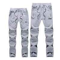 UNDER ARMOUR Women Men Lover Casual Pants Trousers Sweatpants Grey