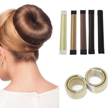 ICIKHY9 1PC Hair Accessories Synthetic Wig Donuts Bud Head Band Ball French Twist Magic DIY Tool Bun Maker French Dish Made Hair Band