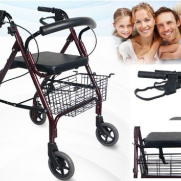 MOBILITY WALKER SHOPPING TROLLEY CART WITH SEAT