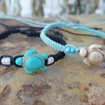 Hemp Bracelet Set, Turtle Bracelets, Adjustable, Hemp Bracelet, Sea Turtle Jewelry, Handmade, Gift for Her, Friendship Bracelets, Hemp
