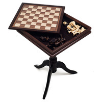 Deluxe Chess & Backgammon Table, Natural, Indoor Games