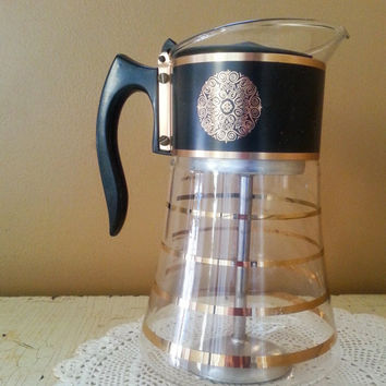 David Douglas Flameware Coffee Pot Coffee Carafe 8 Cup 40 Ounces Mid Century