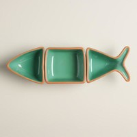 Slim Fish 3-Piece Serving Bowl