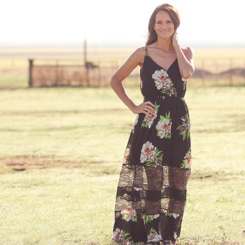 The Colony Lace Tropical Maxi Dress