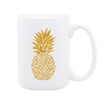 Gold Pineapple Mug - Gold Gifts - Coffee Mug - Tea - Chic - Boho - Preppy Mug