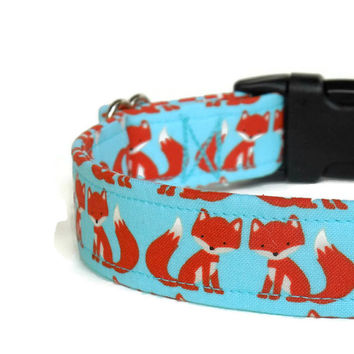 Little Red Foxes Adjustable Dog Collar (Buckle or Martingale)