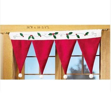 ONETOW Christmas hats Christmas Decorations Windows Hanging decoration Chirstmas Curtain = 1946103108 Day-First?