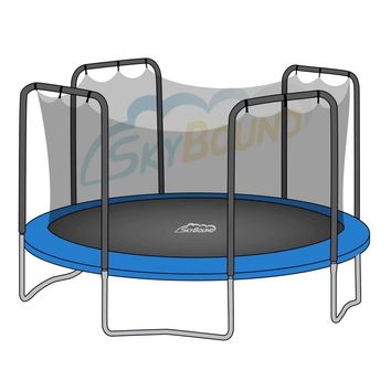 SkyBound 15 x 17 Foot Oval Trampoline Net - Fits 15 x 17 Foot Oval Frames with 4 Arch Enclosures