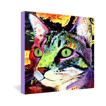 Dean Russo Curiosity Cat Gallery Wrapped Canvas
