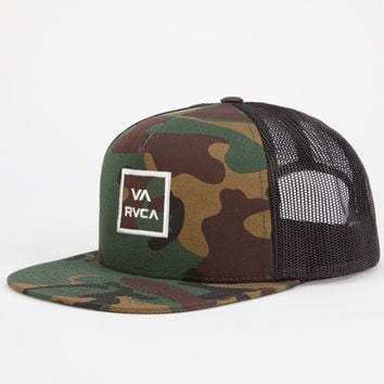 Rvca Va All The Way Ii Mens Trucker Hat Camo One Size For Men 24478094601