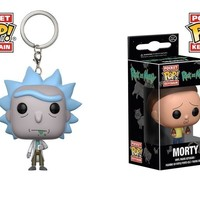 Funko Pop Set Of 2 Pocket Rick and Morty Keychain