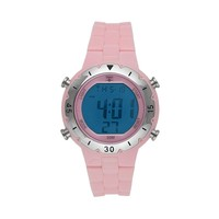 Trax Stainless Steel Digital Chronograph Watch (Pink)
