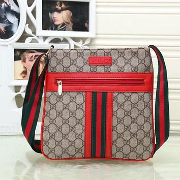 Gucci Men Leather Office Bag Satchel Shoulder Bag Crossbody