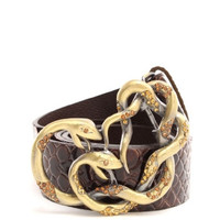 Snake Obsession Faux Leather Belt