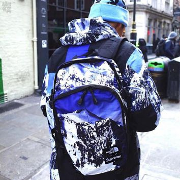 Supreme X The North Face New Fashion Snow Mountain Pattern Expedition Backpack I-Great Me Store