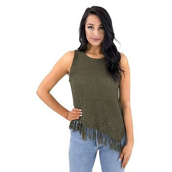 Women's Asymmetrical Tank Sweater