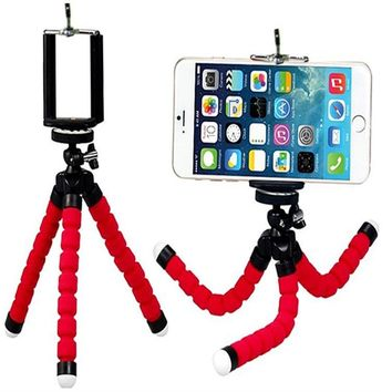 Mini Flexible Sponge Octopus Tripod With Phone Holder Stand Mount For Gopro Hero 4 3 3+  Phones  Cameras DSLR Xiaoyi Sjcam