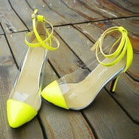 Candy Color High Heel Shoes
