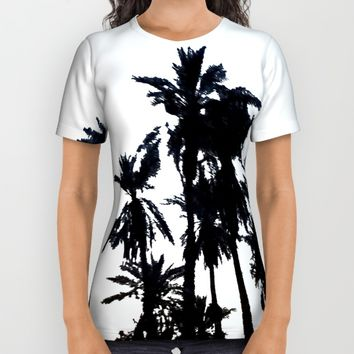Date Palm Trees 3 All Over Print Shirt by ES Creative Designs