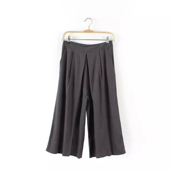 Summer Linen Slim High Rise Pants [4917849924]