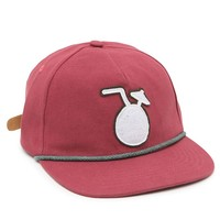 CRITICAL SLIDE SOCIETY Pina Colada Strapback Hat - Mens Backpack - Red - One