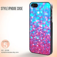 iPhone 5 Case  Sparkle Glitter Blue Purple by StyleiPhoneCase