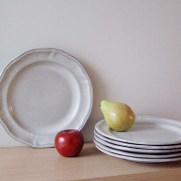 French country plates white glaze terracotta plates with a scal & Best White Pottery Glaze Products on Wanelo