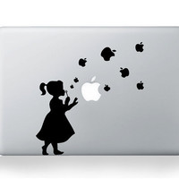 Apple Girl Macbook Decal Sticker Macbook Decals Apple Macbook Decal Apple Sticker for macbook Air Pro Fro