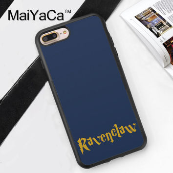 Harry Potter Ravenclaw Printed Soft Rubber Cover for Apple iPhone 7 7Plus 6 6S Plus 5 5S 5C SE 4S Hard Plastic Phone Cases