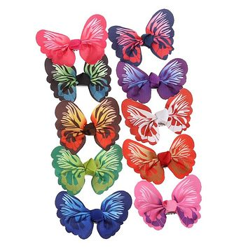 Cute Baby Butterfly Hair Clip Kids Girls Toddler Hairpin Accessories Color