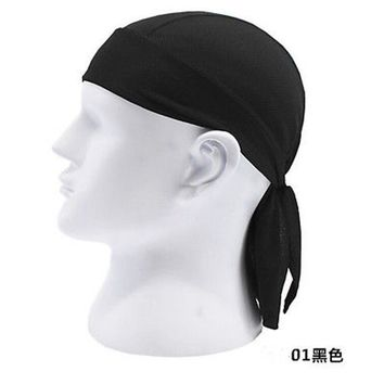 Quick Dry Pure  Cap Head Scarf Summer Men Bandana Headscarf Pirate Hat Hood Headband 12 Color