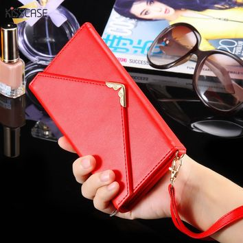 Phone Bag Leather Wallet Case Cover clutch For iPhone 6s 6 Plus 7 7 Plus Samsung Galaxy S7 S6