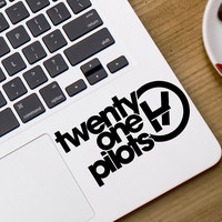 Twenty One Pilots text decal Vinyl Decal