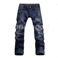 Stylish Leisure Men's Slim Straight Low-rice Winter Cowboy Pants Free Shipping!  - US$48.99