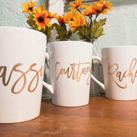 Coffee Cups Bridal Party Bridesmaid gift coffee mug for bridesmaid coffee cup for bride bridesmaid present coffee cup coffee mug