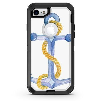 Watercolored Anchor with Rope - iPhone 7 or 8 OtterBox Case & Skin Kits