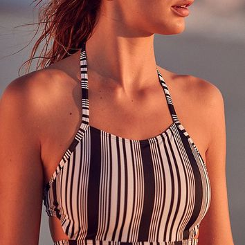 Out From Under Printed High Neck Bikini Top | Urban Outfitters