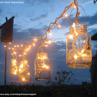 Mason Jar Party Lights 6 DIY Lantern Hangers for Wedding, Patio, Garden, or Celebration, no jars