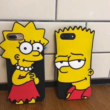 Fashion cool Simpsons mobile phone case for iPhone X 7 7plus 8 8plus iPhone6 6s plus -171122