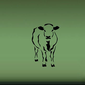 COW FARM ANIMAL  WALL VINYL STICKER  DECALS ART MURAL D242