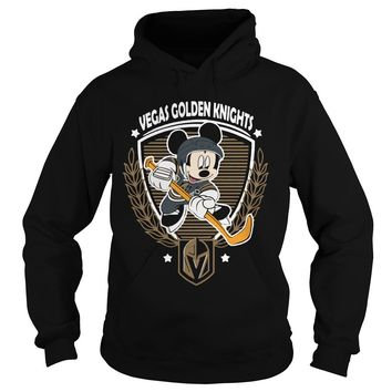 NHL hockey Mickey mouse team Vegas Golden Knights shirt Hoodie