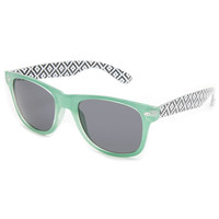 Full Tilt Hudson Sunglasses Mint One Size For Women 23128752301