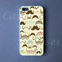 CUSTOM IPHONE 5 CASE MUSTACHES Iphone 5 Cover Funny LOVELY Pretty Cute BEST C...