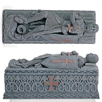 Templar Knight Medieval Crusades Coffin Decorative Box 8.5L