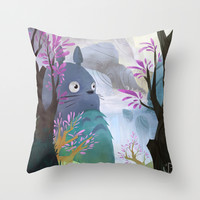 TOTORO Throw Pillow by Youcoucou