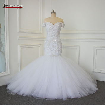 Luxury Full Beading Mermaid Wedding Dress