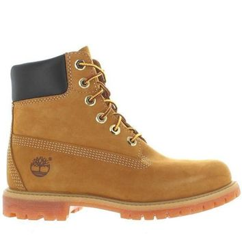 Timberland Earthkeepers 6' Premium   Wheat Nubuck Classic Lace Up Boot